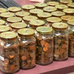 Jars filled with Pennies